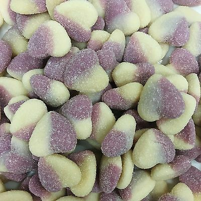 Purple Lavender & White Hearts Purple And White Lollies Soft 1Kg Approx 200Ct