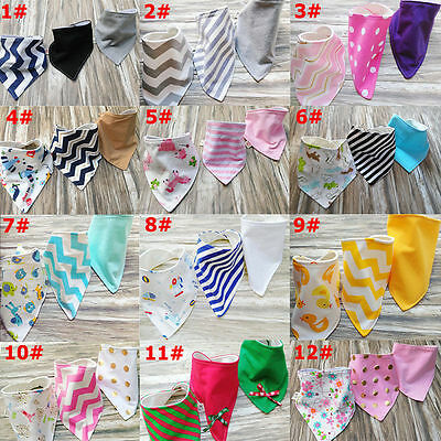3x Baby Triangle Girls Boys Bandana Bibs Head Scarf Saliva Towel Dribble