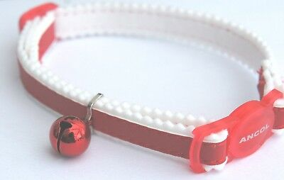 Reflective Red Cat Collar Ancol Safety Release Buckle Adjustable Cat Collar