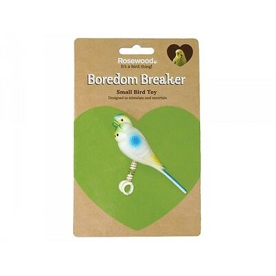 Boredom Breaker Budgie & Canary Budgie On Spring - Accessories - Bird - Toys