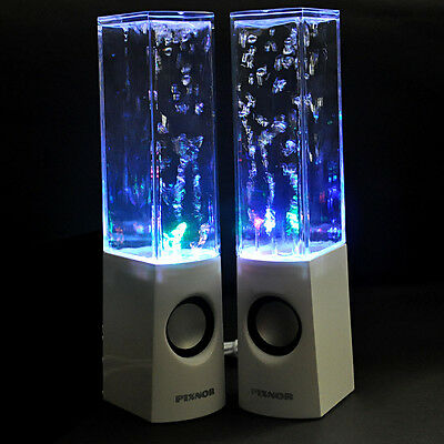 PIXNOR Wireless Bluetooth Color LED Dancing Water Speakers For Mobiles Laptop PC