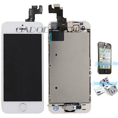White For iPhone 5S LCD Touch Screen Digitizer Replacement +Home Button Camera