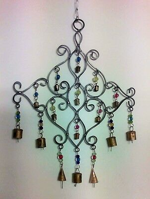 Handmade Geometric Silver Windchime Beads and Bells Ethical Trade from India