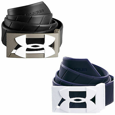 Under Armour Mens Silicone Belt - New Rubber Golf Ua Logo Adjustable Size 2017