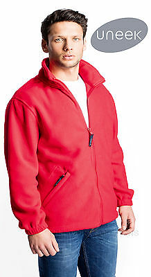 Uneek UC604 Mens Classic Full Zipped Micro Fleece Jacket With Anti Pill