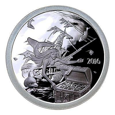 2016 Silverbug Island Collection The Mermaid 1 oz .999 Silver Proof USA Round