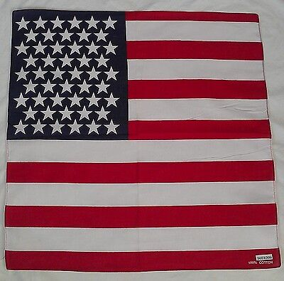 New Unisex 100% Cotton Bandana/Head Wrap/Scarf, American Flag