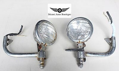 84-87 Oem Honda Goldwing Gl1200 Front Fog Lights Lamp Pair