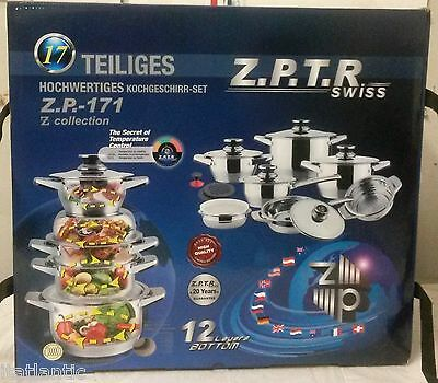 Z.P.T.R Swiss 17 Piece Stainless Steel Cookware Set Limited Edition Z.P-171