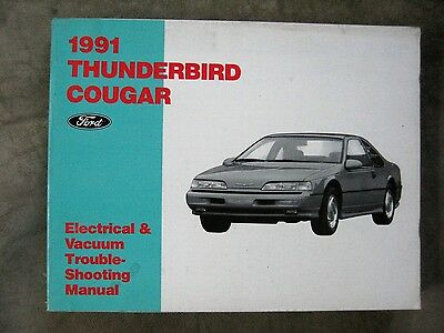 1991 ford thunderbird cougar wiring diagram electrical vacuum manual