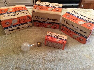 Lot Of 18 Vintage Camera Photography Photo Flash Lamp Bulbs # 22 Westinghouse