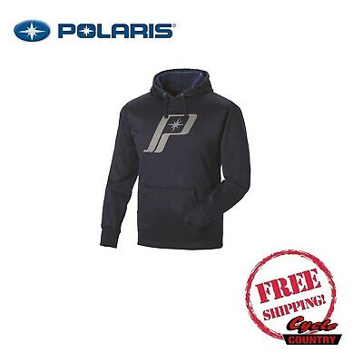 Polaris Men's Retro Logo Hoodie Sweat Shirt New Navy Blue Rzr Rmk Sks Ace Indy