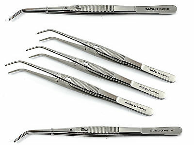 5x College Tweezer lock 15cm Tweezers Dental Surgery Surgical Medical Serrated