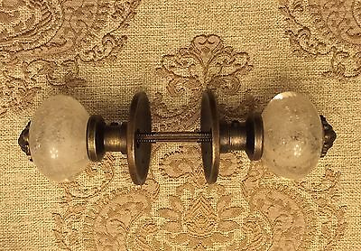 Antique Vintage Look Ornate Bubbled Glass Door Knob Decor Set