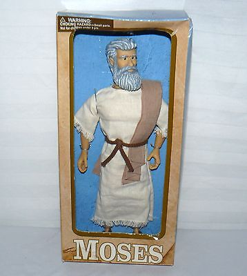 """Messengers of Faith Doll MOSES 11"""" Talking Doll 2005 Christian Bible Figure"""