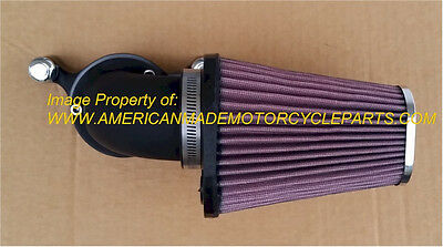 Sportster Harley - Lance Black Red Cone Air Cleaner Filter Kit, Usa Kn Filter