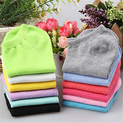 5 Pairs Low Cut Ladies Boat Short Cotton New Women Ankle Socks Gift Pink Blue