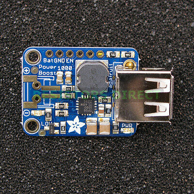 Adafruit PowerBoost 1000 Basic 5V USB Boost Power Supply @ 1000mA from 1.8V+ G28