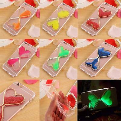 Dynamic Luminous Liquid Glitter Sand Quicksand TPU Cover Case for Various Phone