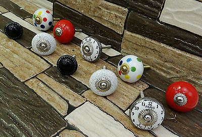 5 Pair Vintage Unique Kitchen Drawer Cabinet Cupboard Pull Hand Painted Knobs