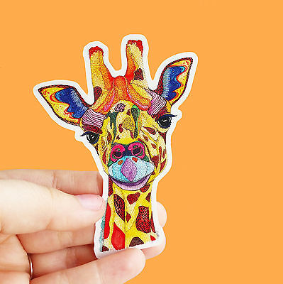 "Vinyl Sticker ""Giraffe"" Waterproof Sticker Decal Laptop Car Bumper Phone"
