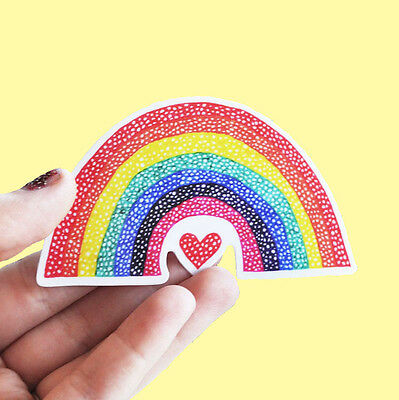 LGBT Rainbow Sticker Vinyl Rainbow Love Waterproof Love Wins Gay Pride Art LGBTQ