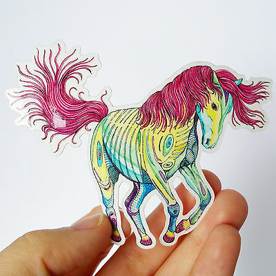 Vinyl Sticker Horse Waterproof Sticker Decal Laptop Sticker Skateboard Sticker