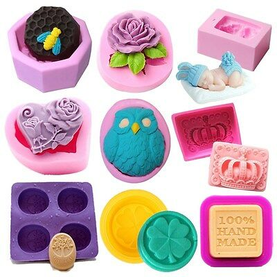 Silicone Fondant Mould Cake Decorating Mold Candy Chocolate Soap Mould 25 Types