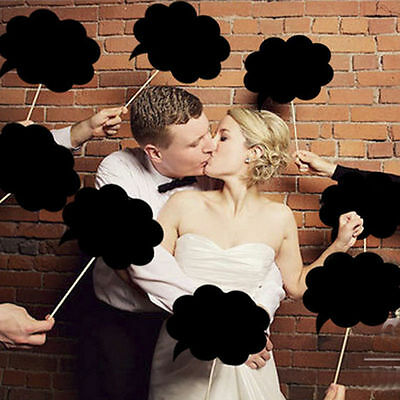 10PCS Wedding Party Christmas Speech Chalk Board Photo Booth Props Photography