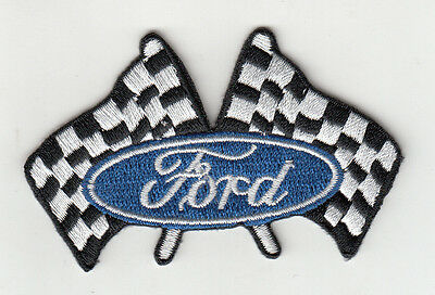 Ford Chequred Flags Embroidered Patch