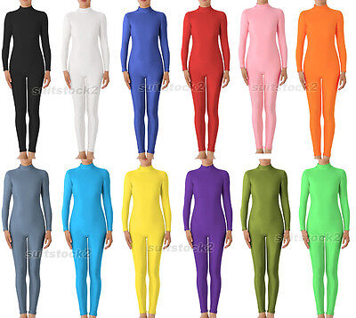 Kid Adult Lycra Spandex Zentai costume dancewear Unitard No Hood & Hands feets