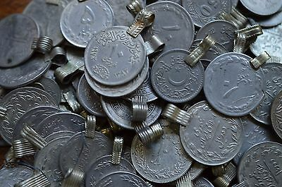 10 Real Coins Tribal Gypsy Belly Dance Banjara Ethnic Afghan Jewelry Mix