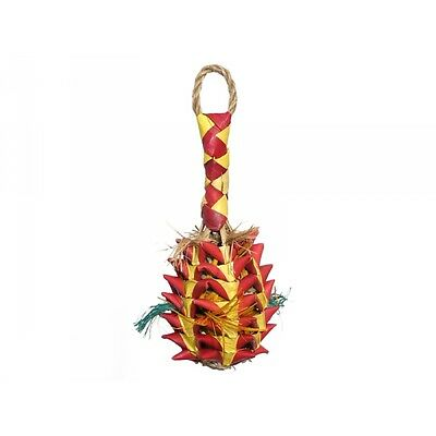 Rosewood Boredom Breaker Woven Wonders Foraging Pineapple Parrot Toy