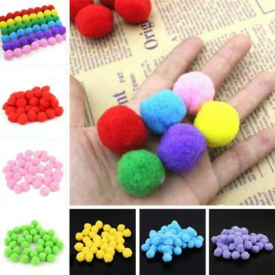 Pack of 50 Furball Pompom Balls Clothing Toy Kids DIY Homemade Craft Supplies FW