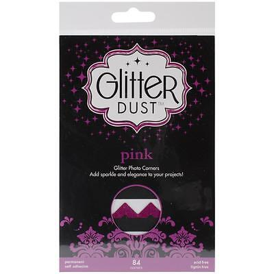 Therm-O-Web Scrapbook Adhesives Pink Glitter Dust Scrapbook Photo Corners
