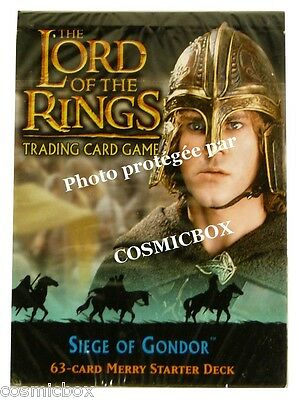 deck LORD of the RINGS starter SIEGE of GONDOR Hobbit MERRY 63 cards cartes NEW