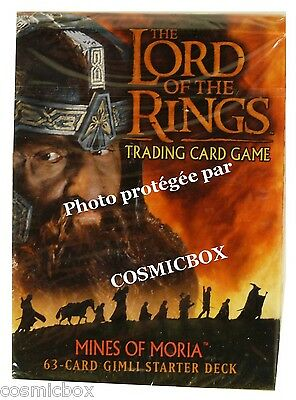 deck LORD of the RINGS starter MINES of MORIA dwarfs GIMLI 63 cards cartes NEW