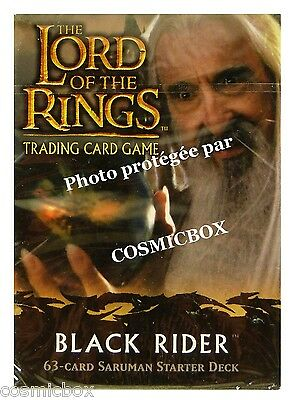 deck LORD of the RINGS starter BLACK RIDER SARUMAN 63 trading cards cartes NEW