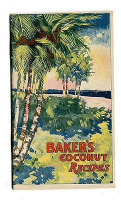 Vintage Cook Book BAKER'S COCONUT Recipes Advertising 1920s Bakers