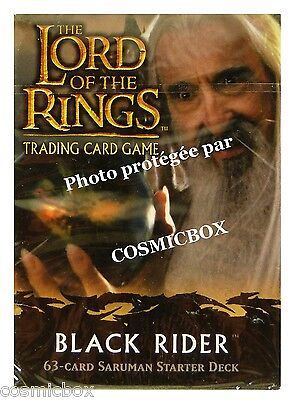 deck LORD of the RINGS starter BLACK RIDER SARUMAN 63 trading cards cartes open