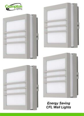 4 x 316 Stainless Steel LED Exterior Fixed Wall Light 12V 5W MR16 Warm White