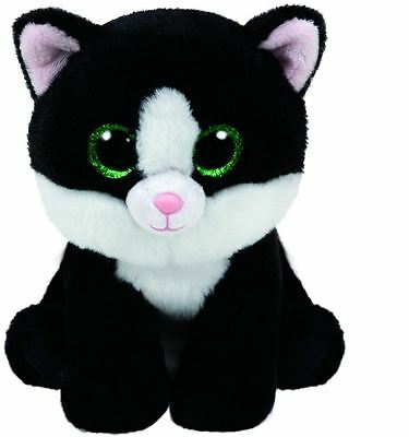 Ava Black & White Cat  - Ty Beanie Baby 6 inch - Ty Teddy - Brand New Soft Toy