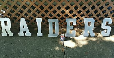 RAIDERS Stainless Steel Three Dimentional Letters