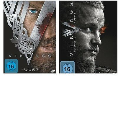 Vikings -komplette Season 1 + 2 [DVDs] -NEU-OVP-DEUTSCH- Staffel eins + zwei-SET