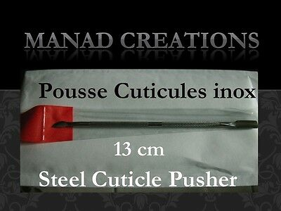 pousse cuticules acier manucure faux ongles gel uv steel cuticle pusher inox