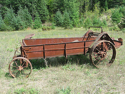 "Vintage Antique Horse Drawn Manure Spreader ""new Idea""????? Antique Farm Equip"