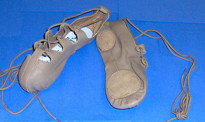 Irish Step Dancing Shoe Capezio Brand # 389 Ghillie or Folk Dance Shoe Tan