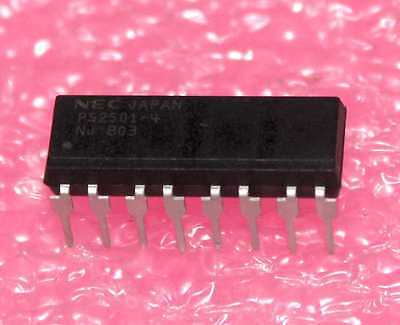 NEC HIGH ISOLATION VOLTAGE FOUR CHANNEL PHOTOCOUPLER in 16-DIP NOS ( PS2501 )