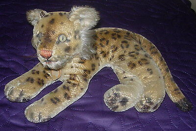 Vintage  Steiff  Leopard  Mohair  With Chest Tag  No Button Or Tag