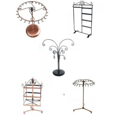 Retro Metal Earrings Necklace Jewelry Display Stand Rack Holder 5-styles